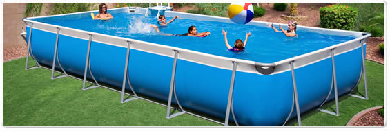 Rectangle Above Ground Pool tuff pools - rectangle pools - 9x17